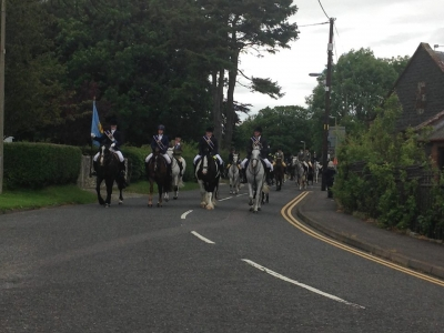 Photo of the riders coming into Wigtown