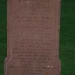 Photo of Corporal McCaskie Headstone in Wigtown Cemetary