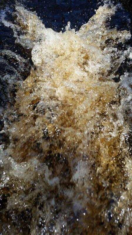 Photo of swollen river