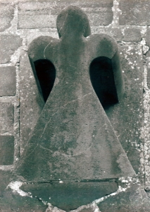 Photo of Angel above the Door of the Church of the Sacred Heart