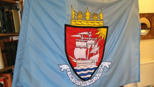 Photo of the ensign flag for the 2015 Wigtown Riding of the Marches