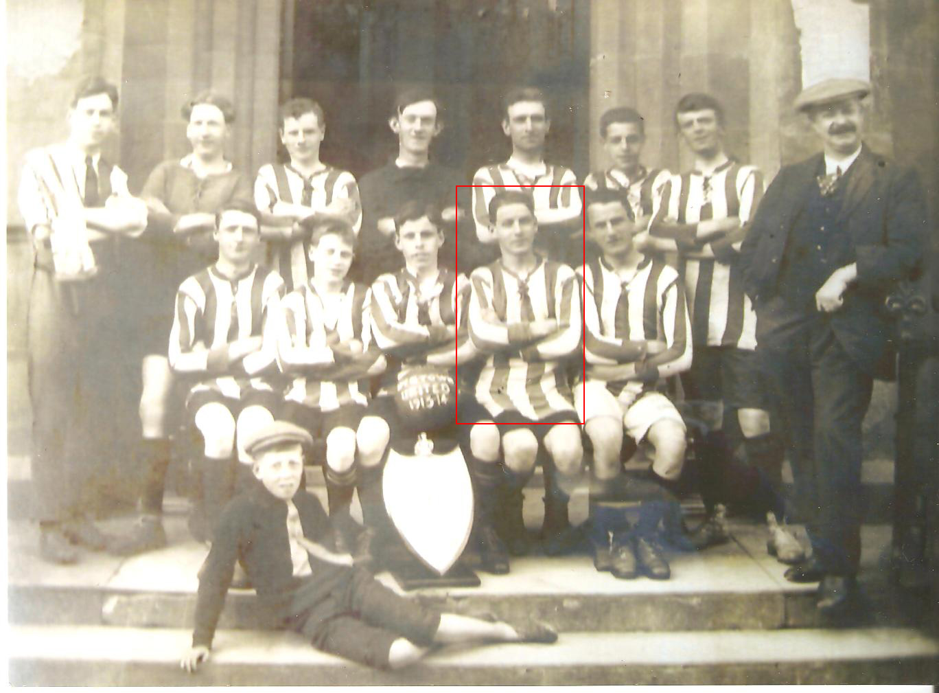 Photo of Wigtown Football Club with Private James Fleming