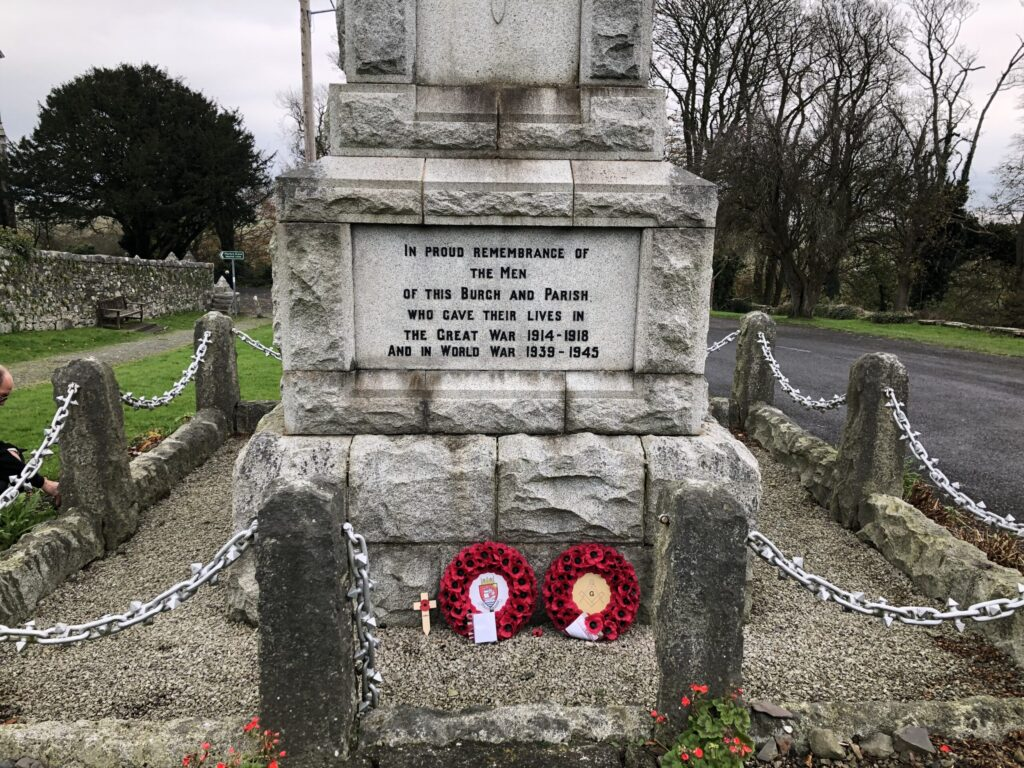 Commemorative Wreaths at Wigtown War Memorial 2020